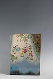 【曹致友作品】色釉斗彩五童献寿