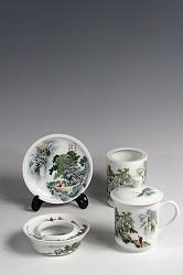 【玉柏茶具】书房四友春景茶具