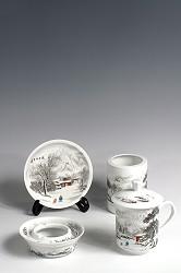 【玉柏茶具】书房四友雪景茶具
