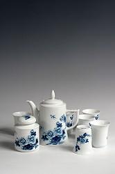 【玉柏茶具】高壶牡丹茶具
