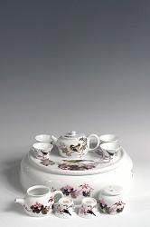 【玉柏茶具】大号花鸟茶具