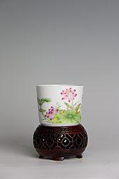 【珐琅彩】荷塘情趣杯