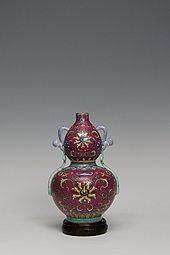 【高仿作品】80件胭脂红葫芦瓶